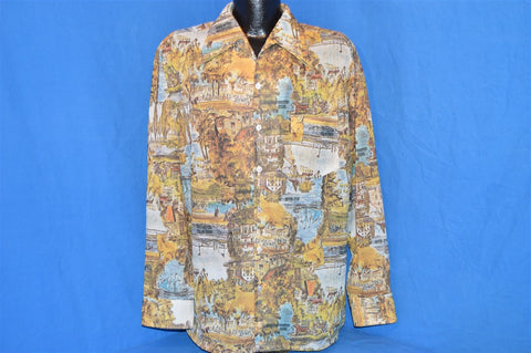 70s American Country Scene Disco Shirt Extra Large