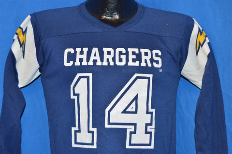 70s San Diego Chargers Dan Fouts Jersey t-shirt Youth large
