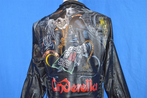 90s Cinderella Heartbreak Station Biker Jacket Women's Large