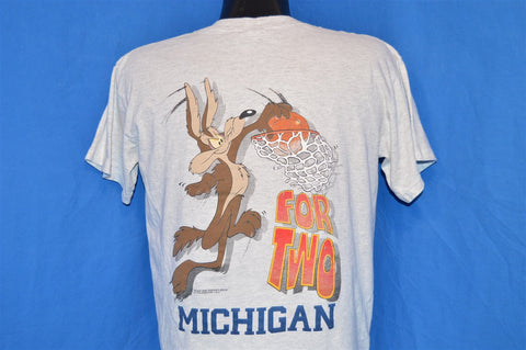 90s Michigan Wolverines Wiley Coyote t-shirt Large