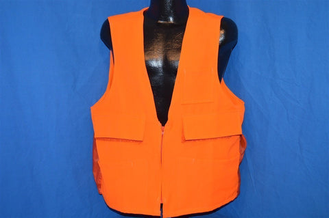 80s Kmart Blaze Orange Hunting Vest Large