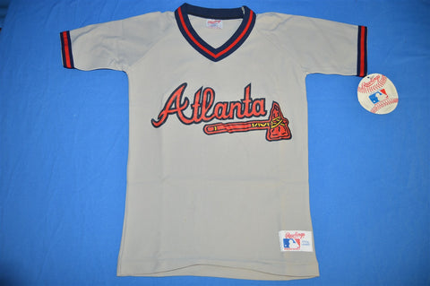 80s Atlanta Braves Jersey Deadstock t-shirt Youth Small