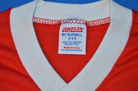 80s Red Blank Jersey Ringer t-shirt Youth Small