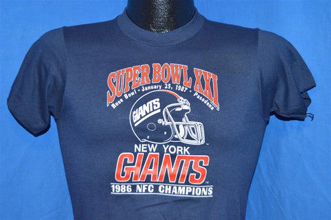 80s New York Giants Super Bowl XXI t-shirt Youth Large