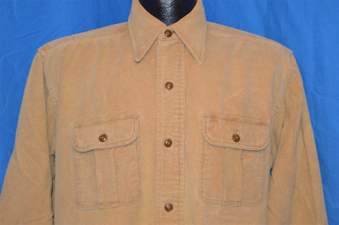 40s Trenton Beige Flannel Hunting Shirt Jacket Large