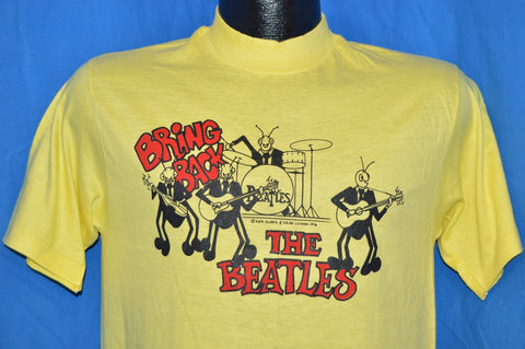 70s Bring Back the Beatles David Peel 1976 Yellow t-shirt Medium