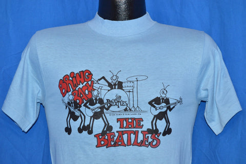 70s Bring Back the Beatles David Peel 1976 Rock Album Light Blue t-shirt Small