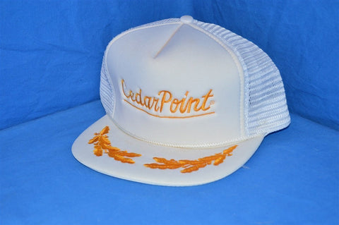 80s Cedar Point Sandusky Ohio Mesh Trucker Hat