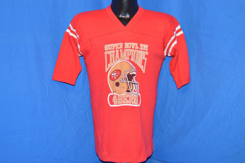 80s San Francisco 49ers Niners Super Bowl Champs XVI t-shirt Medium
