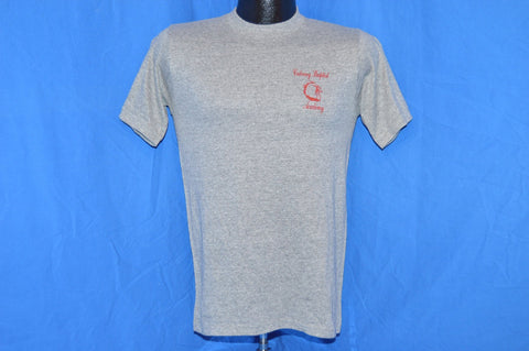 80s Calvary Baptist Academy Heathered Gray Rayon t-shirt Small