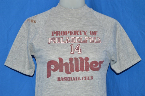 80s Property of Philadelphia Phillies Pete Rose t-shirt Extra Small
