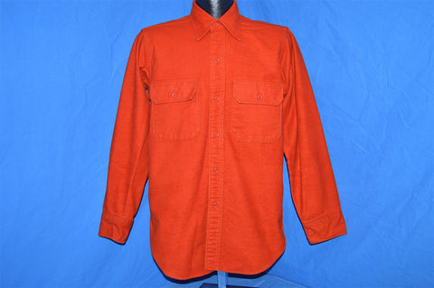 80s Woolrich Orange Flannel Shirt Medium