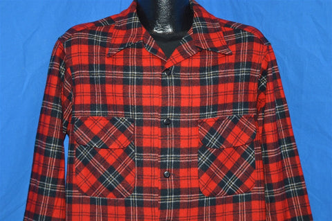 70s Pendleton Checkered Button Down Wool shirt Large