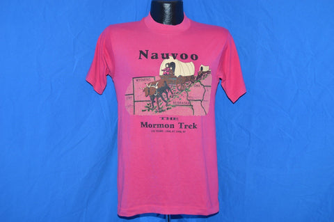 90s Nauvoo Morman Trek 150 Anniversary Wagon Train t-shirt Small