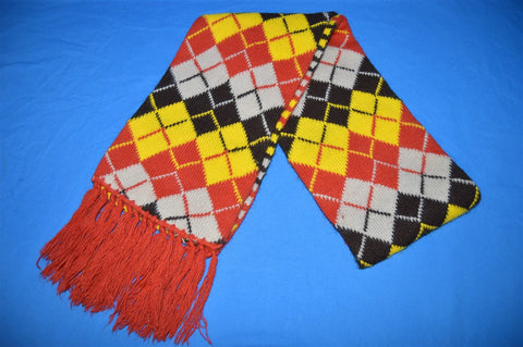 80s Argyle Checkered Two-sided Winter Scarf