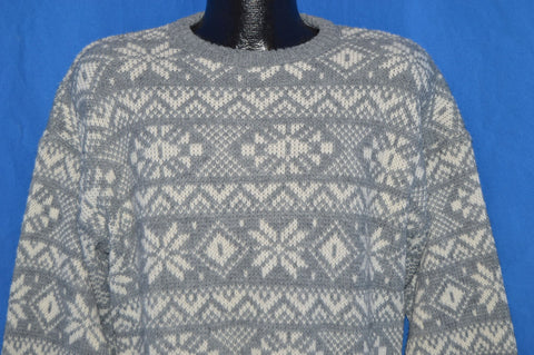 80s Le Tigre Snowflake Sweater Medium