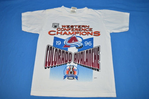 90s Colorado Avalanche Stanley Cup Champs t-shirt Youth Medium