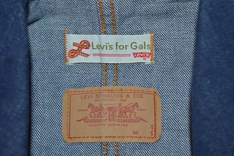 70s Levis For Gals Belted Denim Womens Jacket Small
