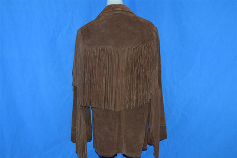 70s Fringe Suede Leather Jacket Women's Medium