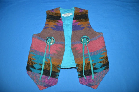 90s Little Bits Native American Wool Vest Youth Medium