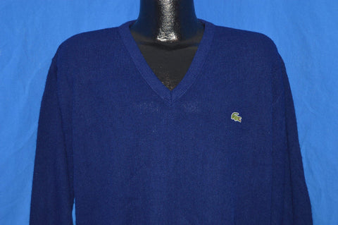 80s Izod Lacoste Navy Blue Pullover Sweater Large