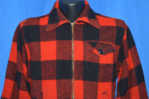 50s Chill Chaser Plaid Wool Hunting Jacket shirt Medium