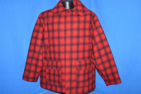 80s Woolrich 504 Red Black Buffalo Check Plaid Jacket Large