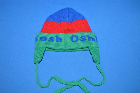 80s Osh Kosh Blue Green Winter Hat