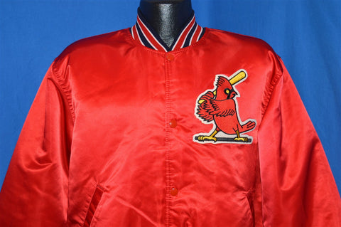 90s St. Louis Cardinals Satin Jacket Large