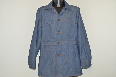 70s Levis Orange Tab Long Leisure Denim Jacket Large