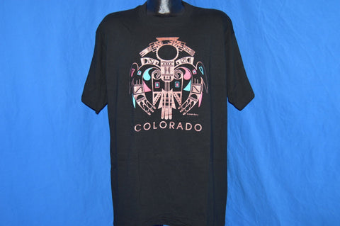 90s Colorado Metallic Tribal Puffy Paint t-shirt Extra-Large