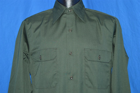 70s Sears Green Workwear Button Down Shirt Small