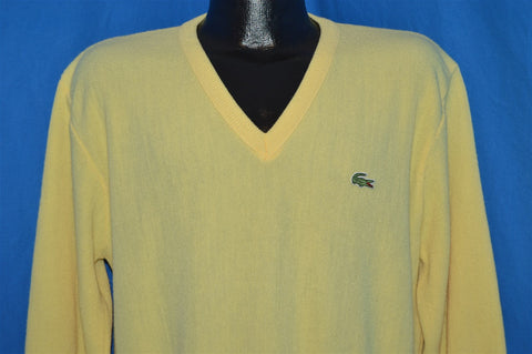 80s Izod Lacoste Yellow Pullover Sweater Large