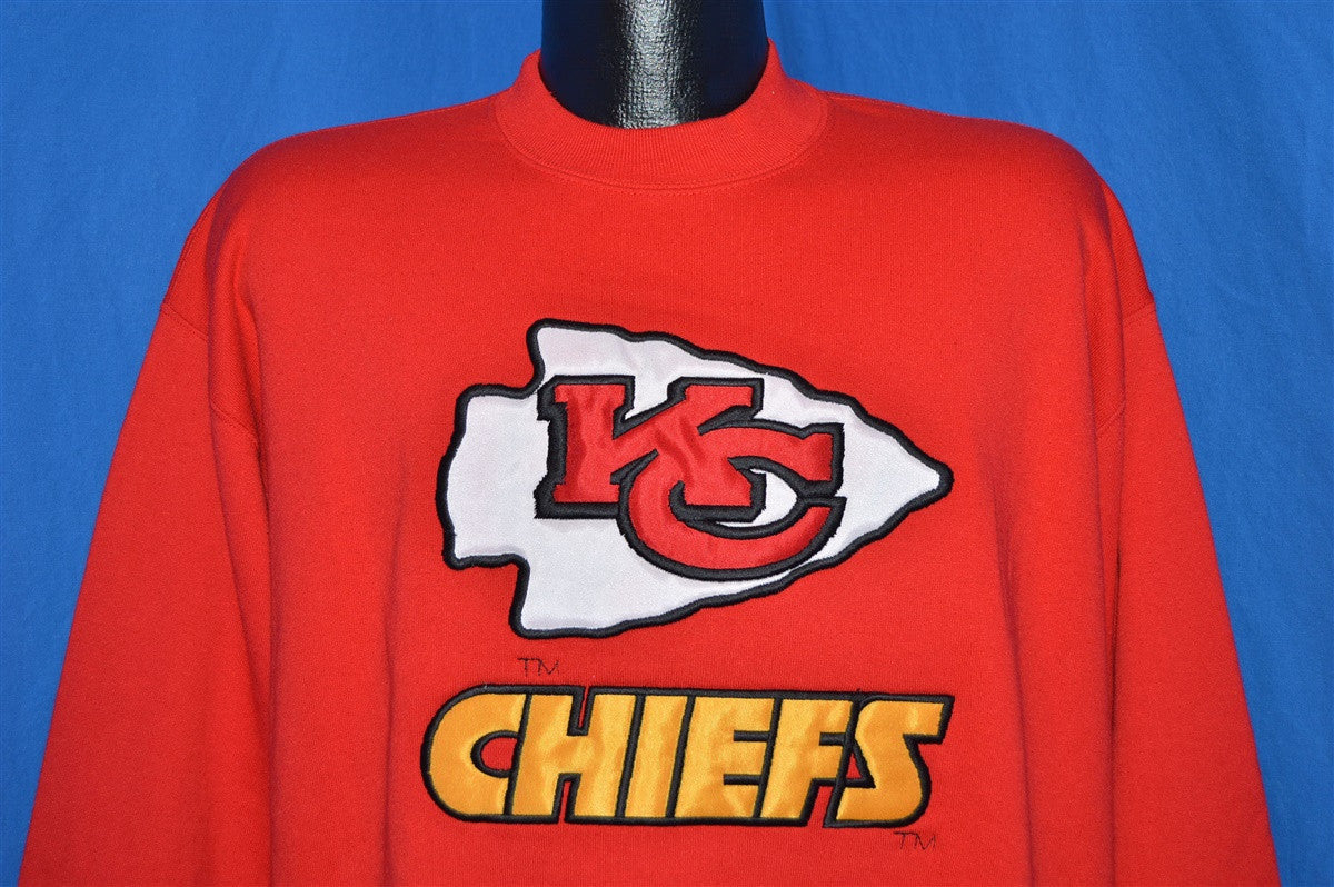 detailed look 698a7 6b731 90s Kansas City Chiefs Sewn On Patch Sweatshirt Extra-Large ...