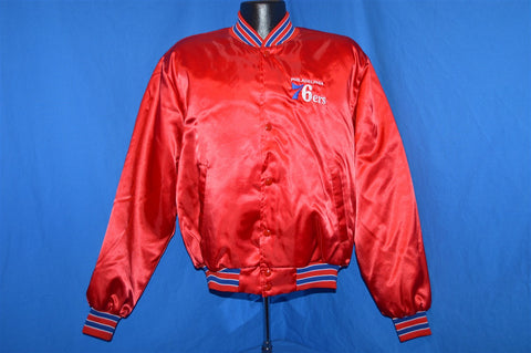 80s Philadelphia 76ers Satin Jacket Large