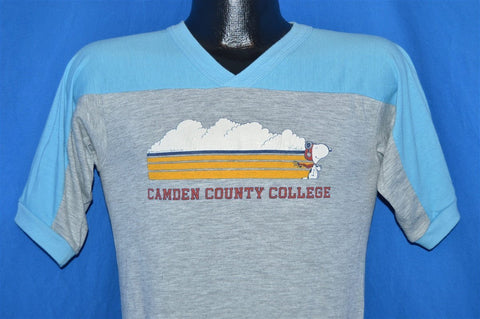 80s Snoopy Camden County College Jersey t-shirt Small