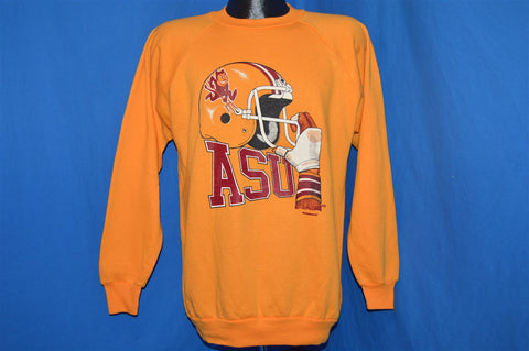 80s Arizona State ASU Sun Devils Football Helmet Sweatshirt Large