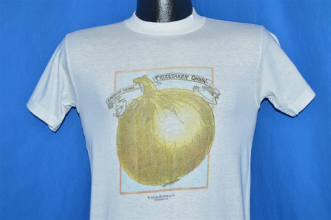 80s W. Atlee Burpee Seeds Prizetaker Onion Packet t-shirt Small