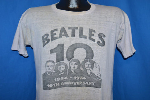 70s The Beatles 10th Anniversary 1974 Rock t-shirt Medium
