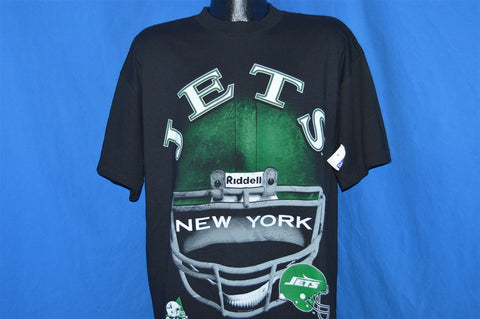 90s New York Jets Riddell Football Helmet t-shirt Extra-Large