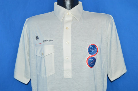 70s GE Astro Space Satcom C-1 Sattelite Polo Shirt Medium