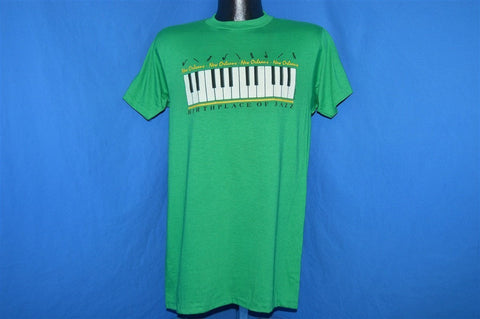 80s New Orleans Birthplace of Jazz Piano Souvenir t-shirt Medium