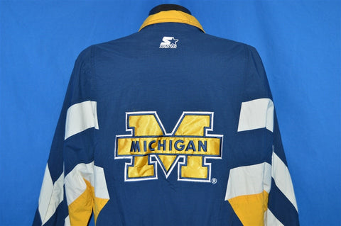 90s Michigan Wolverines Starter Pullover Jacket Large