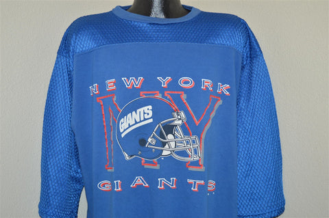 90s New York Giants Helmet Mesh Jersey t-shirt Extra-Large