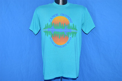 80s Canoe Outpost Withcacoochee River Sunset t-shirt Medium