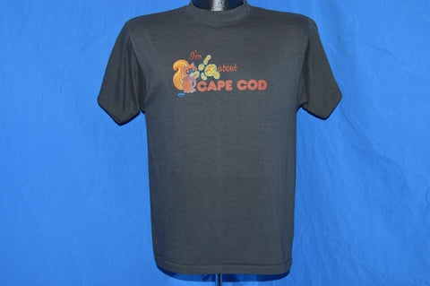 80s I'm Nuts About Cape Cod Funny Squirrel t-shirt Medium