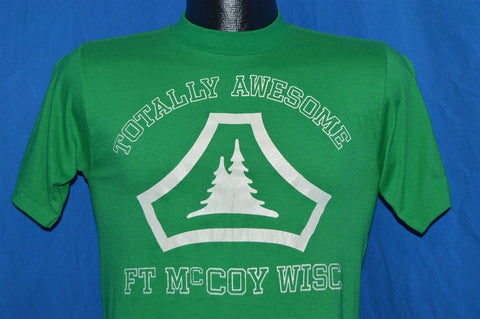 80s Totally Awesome Ft. McCoy Wisconsin US Army t-shirt Small