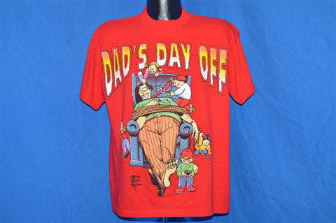 90s Dad's Day Off Father Macho Earth Natives Comic t-shirt Large