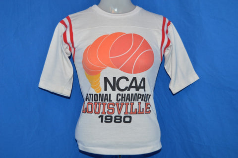 80s Louisville Cardinals Basketball Champs t-shirt Youth Medium