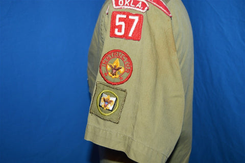 50s Boy Scouts of America Oklahoma Uniform Shirt Small